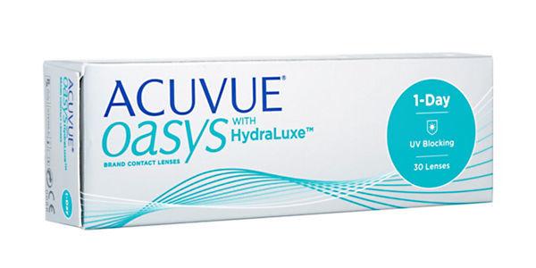 選用acuvue oasys隱形眼鏡,眼睛更舒適